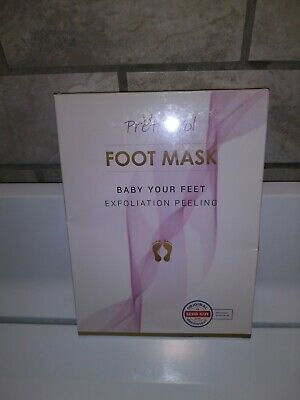 Foot Peel Mask 2 Pack Exfoliating Cracked Heel Treatment and Dead Skin...