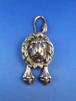 Lion Door Knocker Brass Metal Stretched Legs Long Tail Antique Decorative
