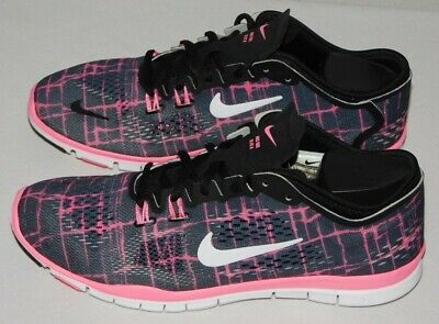 NIKE FREE 5.0 TR FIT 4 RUNNING SHOES Womens 7.5 Black & Pink