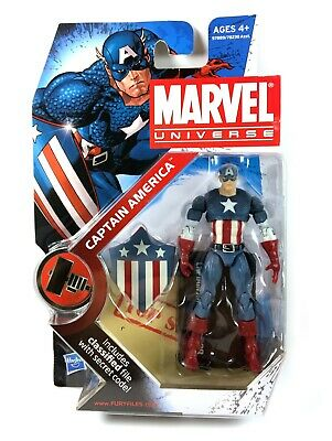 "Captain America Marvel Universe Series 2 Action Figure 3.75"" MOC New Hasbro"