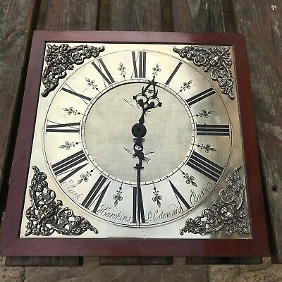 Pretty antique dial with hands and backplate - 18th century long case clock