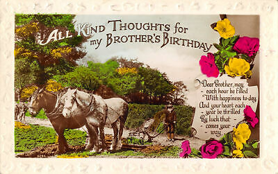 R176726 All Kind thoughts for my Brothers Birthday. Dear Brother may each hour b