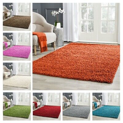 Shaggy Rug High Pile Small Extra Large Thick Soft Living Room Floor Bedroom