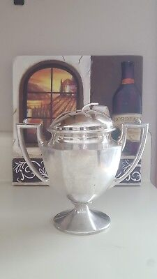 W.M.Mounts homan plated on nickel silver creamer or sugar bowl Trophy