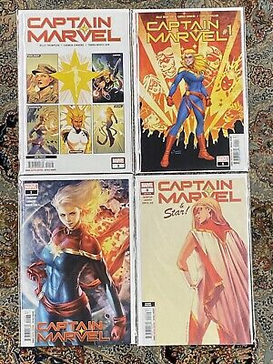 CAPTAIN MARVEL #1 A & B & Walmart #8 2nd print 1st Ripley as Star NM Set 2019