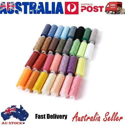 30X Sewing Thread Colors Roll Polyester Kit Set For Home DIY Sewing Machine