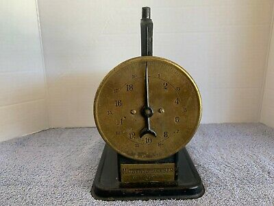 Antique c. 1910 Brass Faced Cast Iron Scale Mathews & Boucher Rochester, NY 20LB