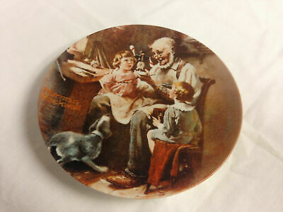 Norman Rockwell 1977 The Toy Maker Collector Plate - Very Good Condition