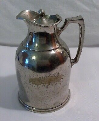 Vtg Stanley Insulation Co. SilverPlate(?) Carafe/Pitcher Barrington, Mass.