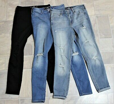 HOLLISTER Girls Jeans (3 pairs) size 29W/26L, slightly used