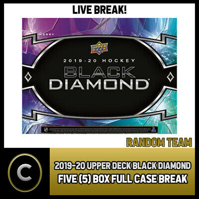 2019-20 Upper Deck Black Diamond 5 Box (Full Case) Break #H537 - Random Teams