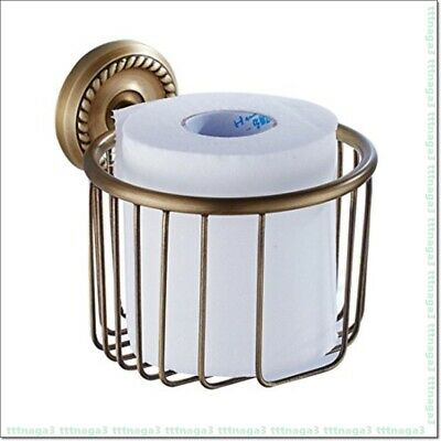 Toilet paper basket made of brass antique bronze finish toilet paper holder