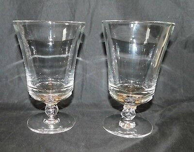 2 Vintage Fostoria Glass - Clear CENTURY Pattern, Footed Ice Tea Goblets