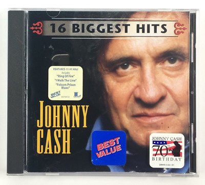 16 Biggest Hits JOHNNY CASH (1999, CD) BEST GREATEST Walk The Line Ring of Fire