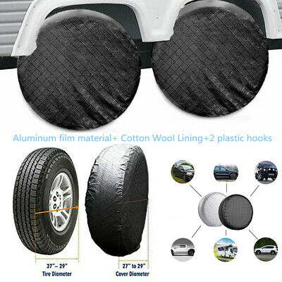 """4xFoldable Wheel Tire Covers Waterproof For RV Trailer Camper Car SUV 26""""to 27''"""