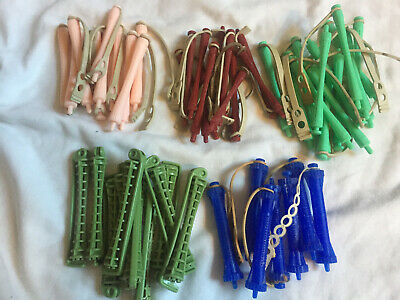 VINTAGE Lot 53 Assorted Hair Rollers Curlers Perm Rods