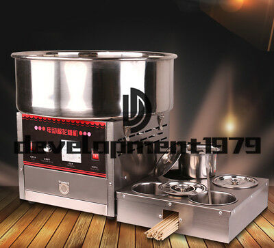 Commercial Upgrade Section Electric Automatic Cotton Candy Machine 1000W 220V