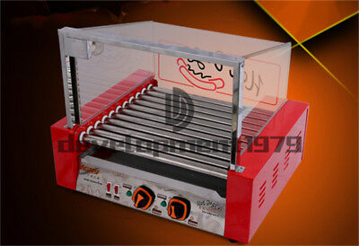 220v 2.06kw Commercial Double Temperature Control 11 Roller Grill Cooker Machine