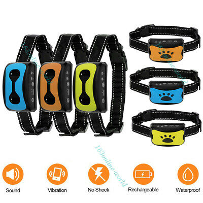 Auto Anti Bark Pet Dog Training Collar Sound & Vibration Stop Barking Automatic