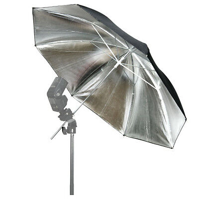 "33""Silver/Black Reflective Umbrella f Photo Studio Flash Speedlite 83cm HOT SALE"