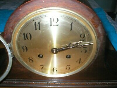 Napolean Hat Mantle Clock Works With Pendulem Also Has Key