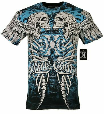 XTREME COUTURE by AFFLICTION Men T-Shirt DECAY Cross Biker MMA GYM $40