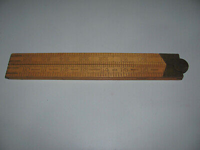 Vintage Rabone No1380 3FT Folding Boxwood Wooden Ruler Made In England As Shown