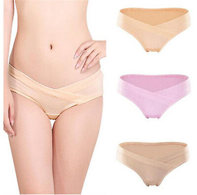 Cotton Soft Pregnant Women Underwears U-Shaped Low Waists Maternity Short Panty