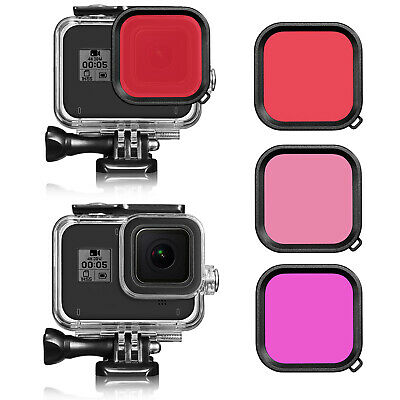 For GoPro Hero 8 Black Waterproof Diving Protective Housing Case Diving Filters