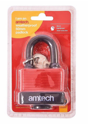 Draper 64177 45mm Weatherproof Outdoor Garden Shed Long Shackle Padlock