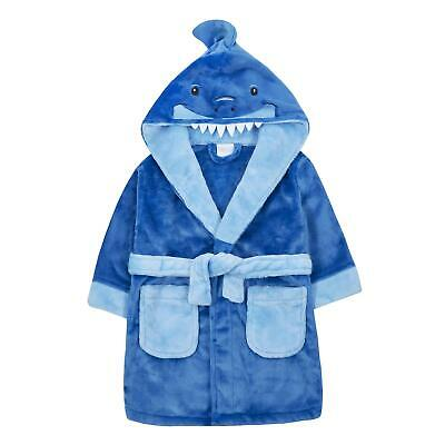 Childrens / Boys Novelty Shark Dressing Gown / Robe ~ 2-13 Years