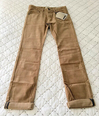 Zara Boys Cord Effect Trousers With Cotton Light Camel Age 11/12 BNWT LAST PAIR