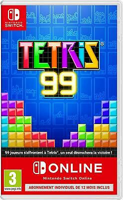 Tetris 99 +  1 An D'abonnement Au Nintendo Switch Online Jeu Switch Neuf