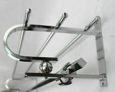 110,5 cm - ART DECO Wandgarderobe - BAUHAUS Chrom Garderobe - coat rack