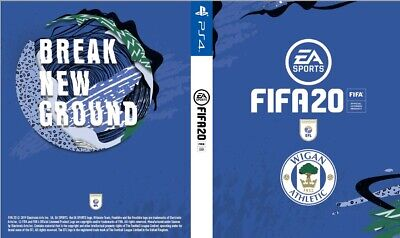 Fifa 20 Game PS4 Custom Wigan Athletic Cover Playstation 4 Sleeve Outer Print