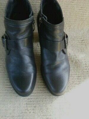 Exc  N/New Gino Ventori Quality Black Leather Ankle Boots, Sz. 40 - 8.5