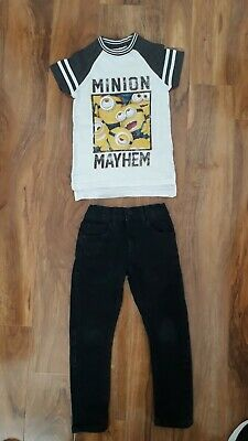 Boys Next Outfit Skinny Jeans/Minions Age 3