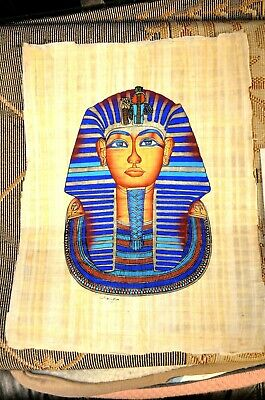 Vintage Egyptian Art Hand Painted on Papyrus