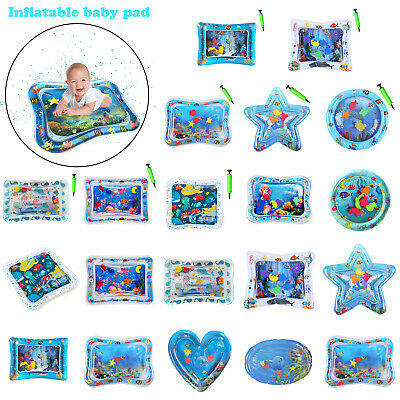 Baby Water Mat Tummy Time Inflatable Play Mat floor Activity Gym Crawling Kids