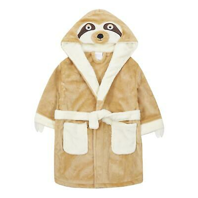 Childrens / Girls / Boys Novelty Sloth Dressing Gown / Robe ~ 2-13 Years