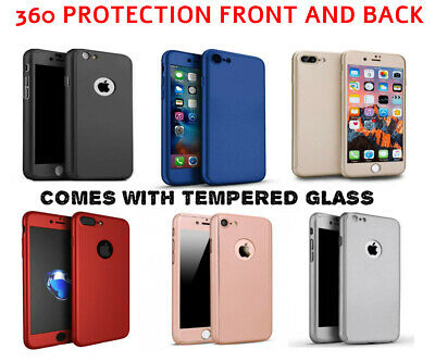 Case for Apple iPhone 11 6 7 8 5 Plus XS Cover 360 Luxury Thin Shockproof Hybrid