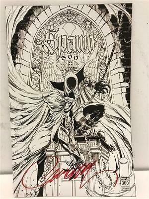 NYCC 2019 SPAWN 300 Campbell B & W Variant SIGNED by J. Scott Campbell with COA