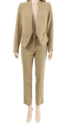Topshop Premium Camel Tailored Smart  Jacket Blazer With Trouser 2 Piece 6,8 £99