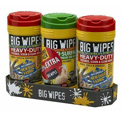 Big Wipes Triple Pack Multi-Surface Heavy Duty Cleaning Hand Wipes + 25% Extra F