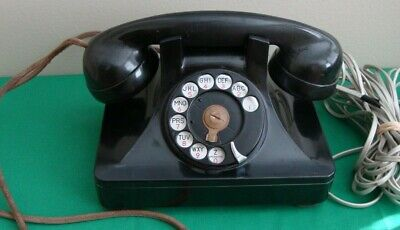 North Electric Rotary Dial Phone Desk Set Telephone Galion Bakelite