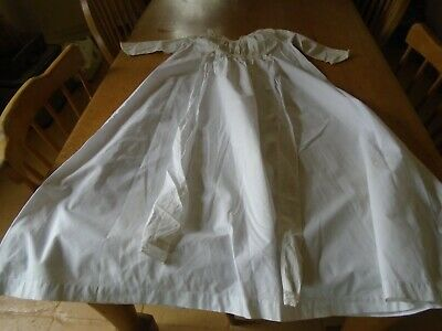 Antique White Cotton Baby Nightgown