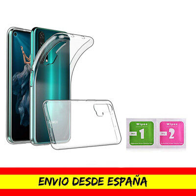 Funda Movil Honor 20 Pro Gel Transparente Toallita Limpiadora Pantalla