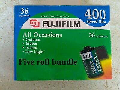 FUJI FUJIFILM SET OF 5 SUPERIA X-TRA 400 36 35mm FILM EXPIRED MARCH/2005