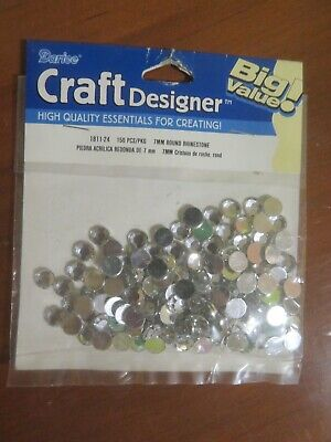 150 pcs PERLES STRASS  7 mm à coller - déco