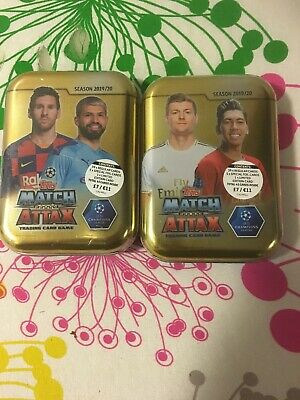 2 X Topps Match Attax Champions League 2019/20 Tins Trading Card Tins